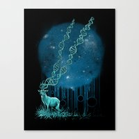 DNA Deer Canvas Print