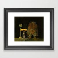 Big Friend Framed Art Print