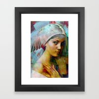 Memory of your look  Framed Art Print