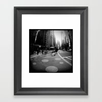 Breakfast in the City Framed Art Print