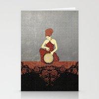 Rastafari Woman On Bongo… Stationery Cards