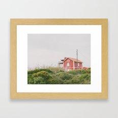 That red house Framed Art Print