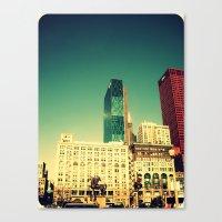 Chicago Retro Skyline ~ … Canvas Print