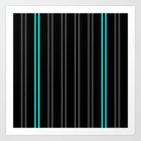 Charcoal Gray/Teal/Black… Art Print