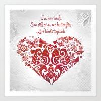 Baybeh Heart Haiku Art Print