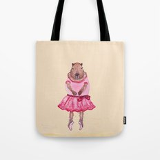 Capybara Ballerina  Tote Bag