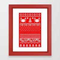 Ugly Maryland Christmas Sweater Framed Art Print