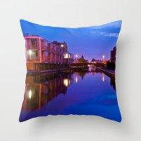 The swans silenced Throw Pillow