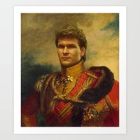 Patrick Swayze - Replace… Art Print