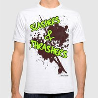 Slashers & Thrashers Mens Fitted Tee Ash Grey SMALL