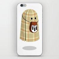 Plaid ghost iPhone & iPod Skin