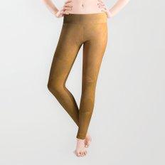 Brushed Copper Metallic Leggings