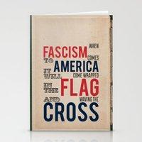 Fascism Stationery Cards