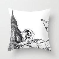 Big ben And Boudica Throw Pillow