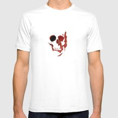 skull #06 White Mens Fitted Tee SMALL