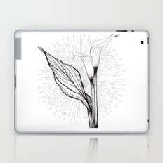Lily in Black and White Laptop & iPad Skin