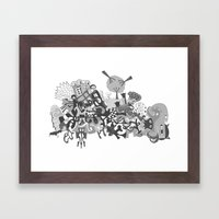 mashup 11 Framed Art Print