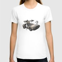 star T-shirts featuring Lost, searching for the DeathStarr _ 2 Stormtrooopers in a DeLorean  by Vin Zzep