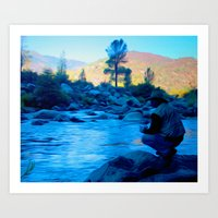 River Blues Art Print