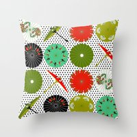 Parasols Throw Pillow