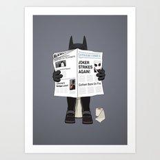A Bat Sunday Art Print