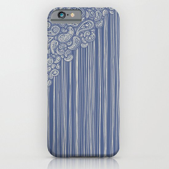 The Unraveling of Paisley Lace (in blue and cream) iPhone & iPod Case