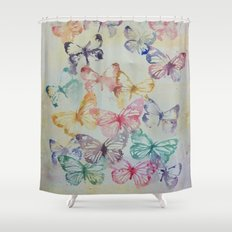 Butterflies II Shower Curtain