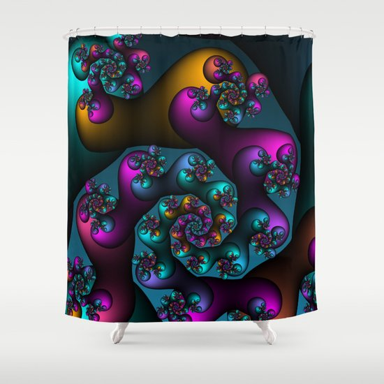 direction Shower Curtain