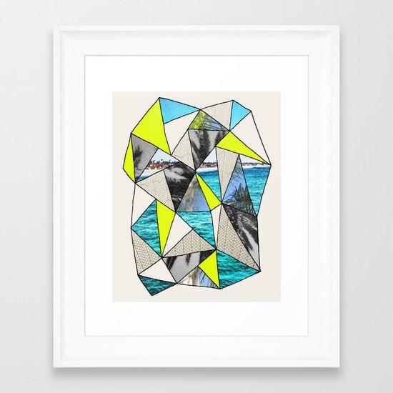 PALM POINT Framed Art Print