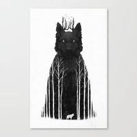 Canvas Prints featuring The Wolf King by DB Art