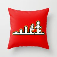 Lego Evolution  Throw Pillow
