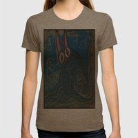 Wave Kitty Womens Fitted Tee Tri-Coffee SMALL