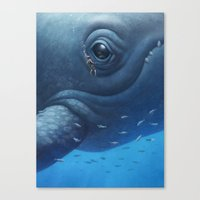 Beneath Canvas Print