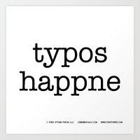 Typos Happne Art Print