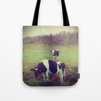 Rustic Cows Tote Bag