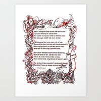 Sonnet 29 - Shakespeare … Art Print