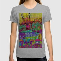 I Heart Paris Womens Fitted Tee Athletic Grey SMALL