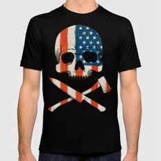 American P$yscho MEDIUM Mens Fitted Tee Black
