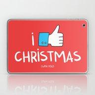I Like Christmas (with Y… Laptop & iPad Skin