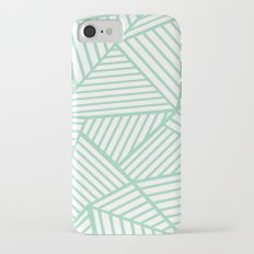 Abstract Lines Close Up Mint Slim Case iPhone 7