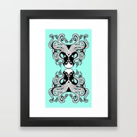 Octopus Mirrored Framed Art Print