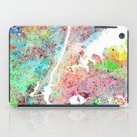 New York map splash painting iPad Case