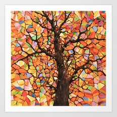 Stained Glass Tree #2 Art Print