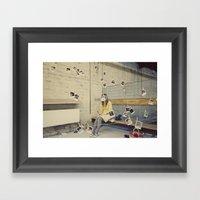 Polaroid Queen Framed Art Print