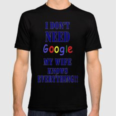 Google  Mens Fitted Tee Black SMALL