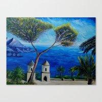 All Blue On Amalfi Coast… Canvas Print