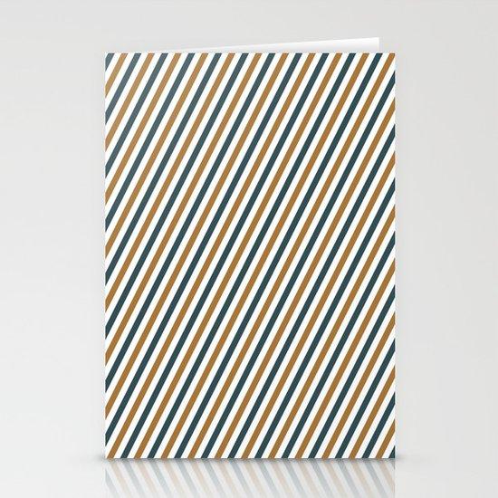 Postal stripes Stationery Card