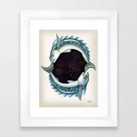 INKYFISH - Southern Hemisphere Framed Art Print