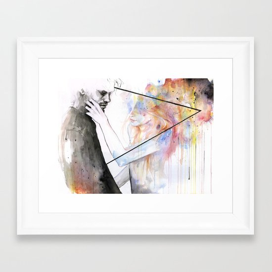 two different lights Framed Art Print