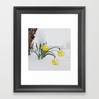 Spring Lost A Bet To Win… Framed Art Print